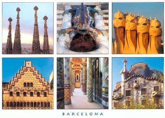 pocztówka z Barcelony