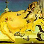 "Obraz Salvadora Dali ""Grand Mastubateur"" inspirowany formą skalną w Cap de Creus"