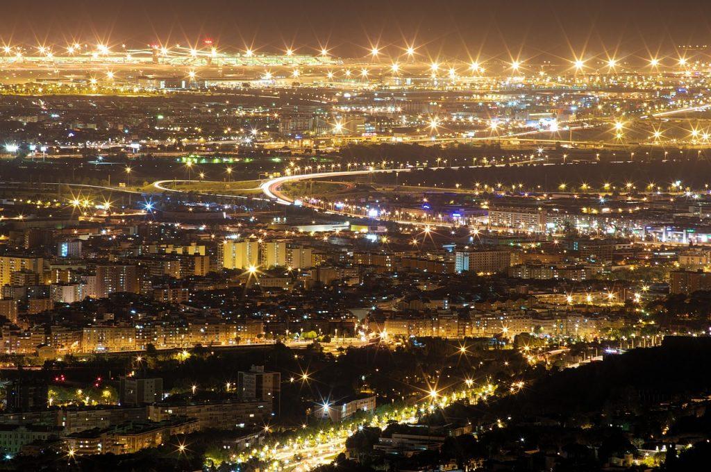 Barcelona nocą